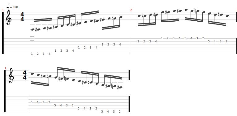 Ejercicios Guitarra Calentamiento 1
