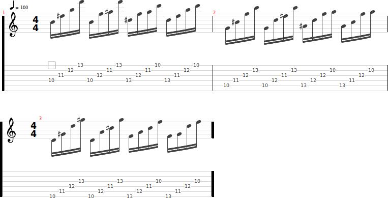 Ejercicios calentamiento guitarra 2