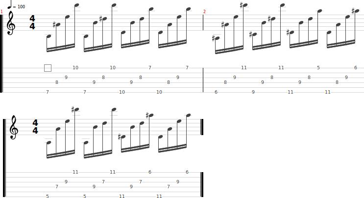 Ejercicios guitarra calentamiento 4
