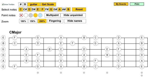 Generador de Escalas Guitarra