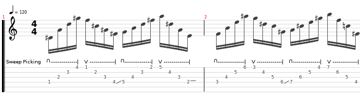 sweep-picking 1