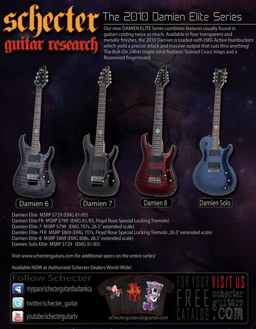 Schecter Damien Elite Guitars