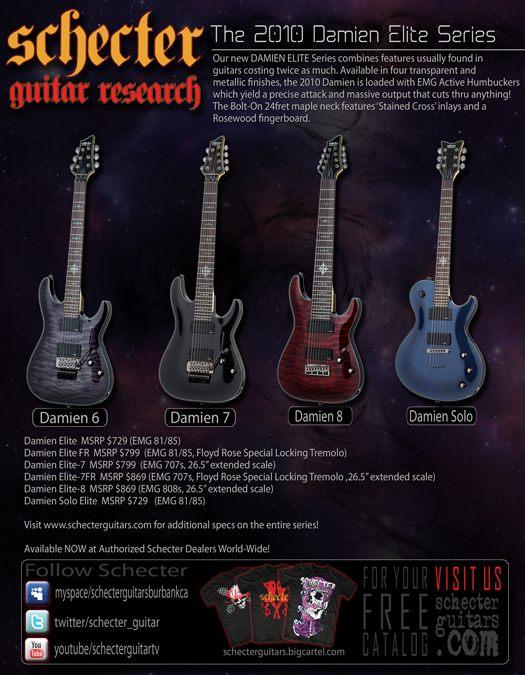 Schecter Damien Elite Guitars