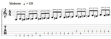 ejercicio destreza guitarra 3
