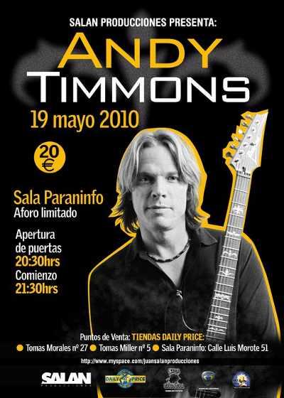 Conciertos de Andy Timmons en España