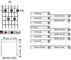 Aplicación y biblioteca de acordes