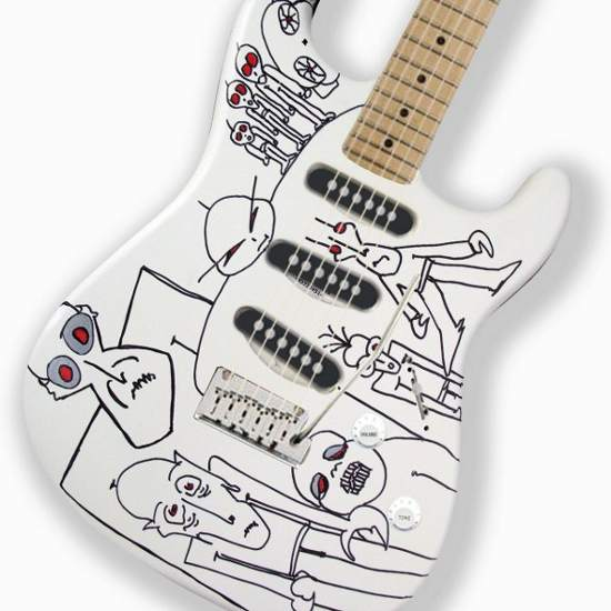 Guitarra pintada por Joe Satriani