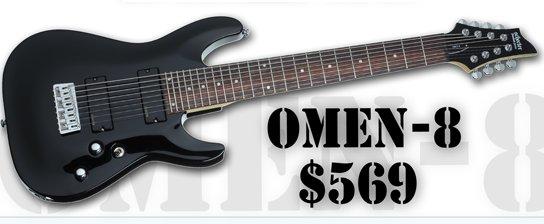 Guitarra Schecter  Omen-8