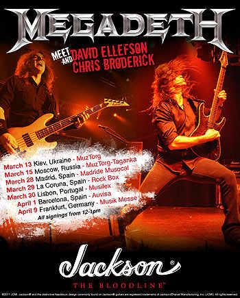 Jackson & Megadeth: Ellefson y Broderick en España