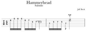 Jeff Beck Hammerhead