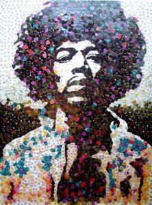 Retrato Jimi Hendrix