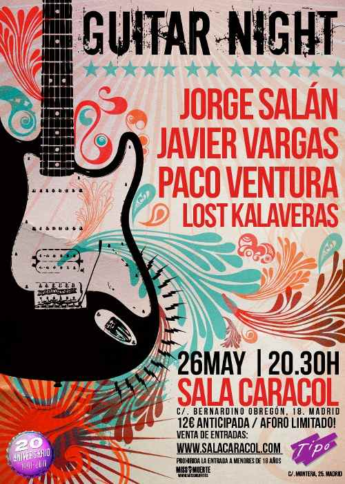 "Concierto ""Guitar Night"" en Madrid"