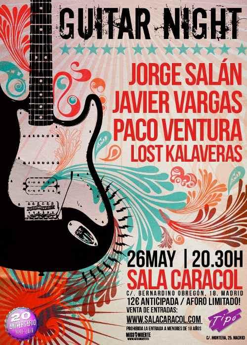 """Concierto """"Guitar Night"""" en Madrid"""