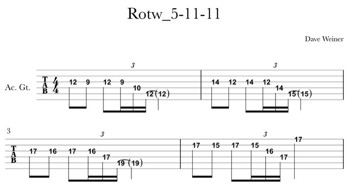 Riff of the week Sweep Picking