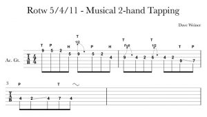 Riff of the week tapping