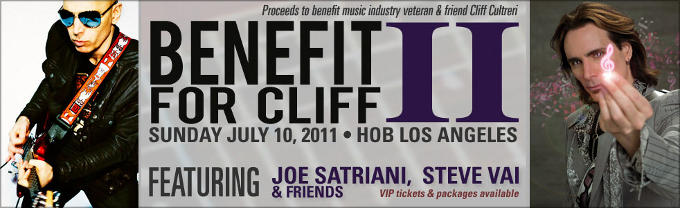 Steve Vai y Joe Satriani A Benefit for Cliff II
