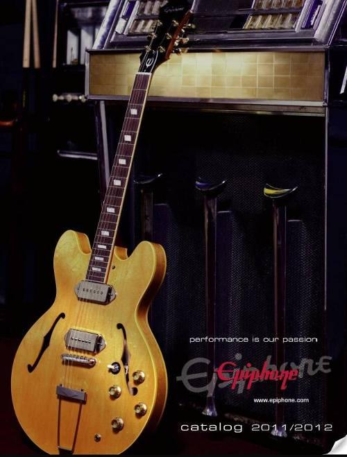 Catálogo guitarras Epiphone
