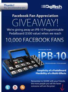 Sorteo Facebook Digitech iPB-10