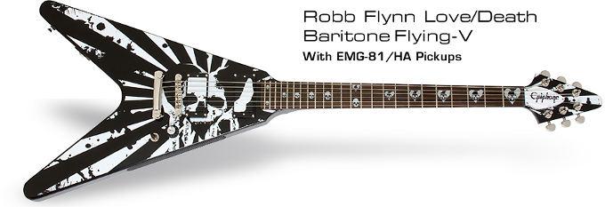 Epiphone Robb Flynn Love/Death Baritone Flying-V