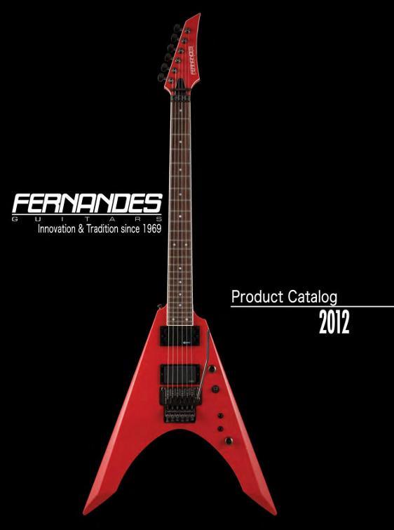 Catálogo de guitarras Fernandes 2012