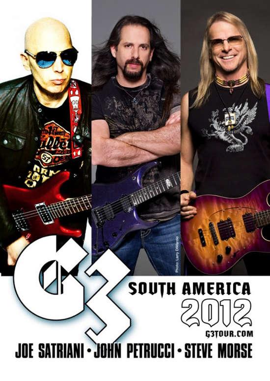 G3 en Sudamérica: Joe Satriani, John Petrucci y Steve Morse