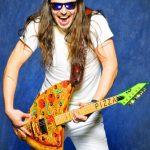 Andrew W.K. ESP pizza guitar