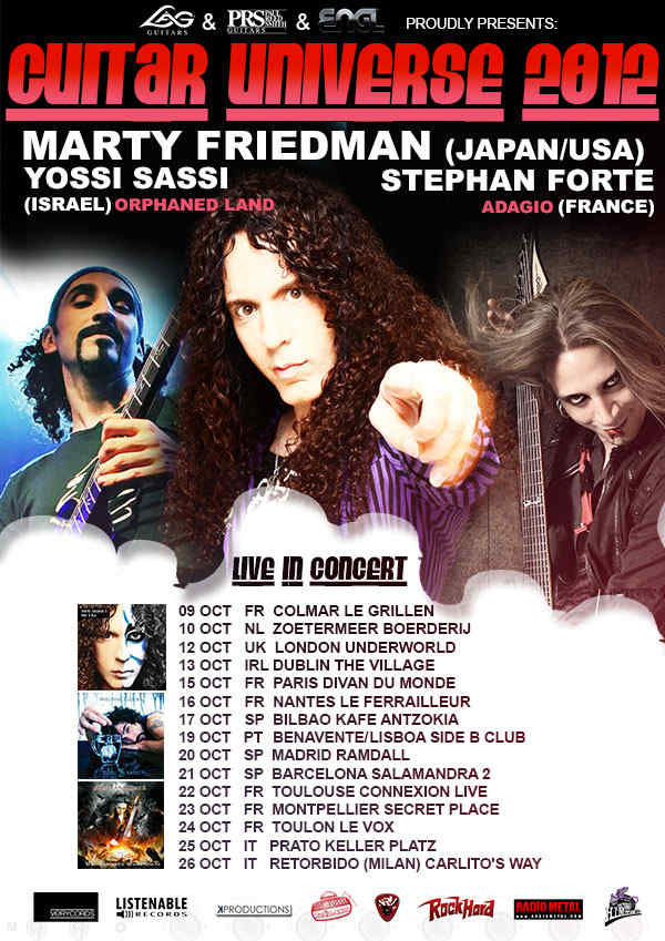 Marty Friedman, Stephan Forte y Yossi Sassi en España: Guitar Universe Tour 2012