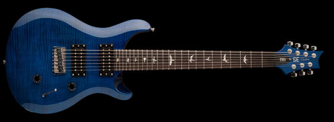 PRS SE Custom 24 7-String Royal Blue