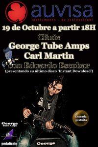 Clinic de George Tube Amps y Carl Martin en Auvisa (Mataró)