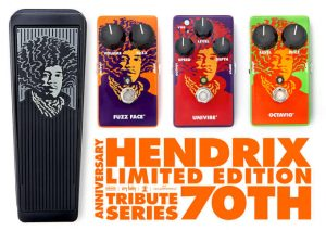 Pedales Dunlop Limited-Edition Jimi Hendrix 70th Anniversary Tribute Series