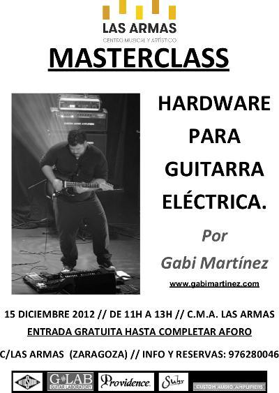 MasterClass guitarra Gabi Martínez