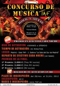 5ª edición del Concurso de Música de TAF