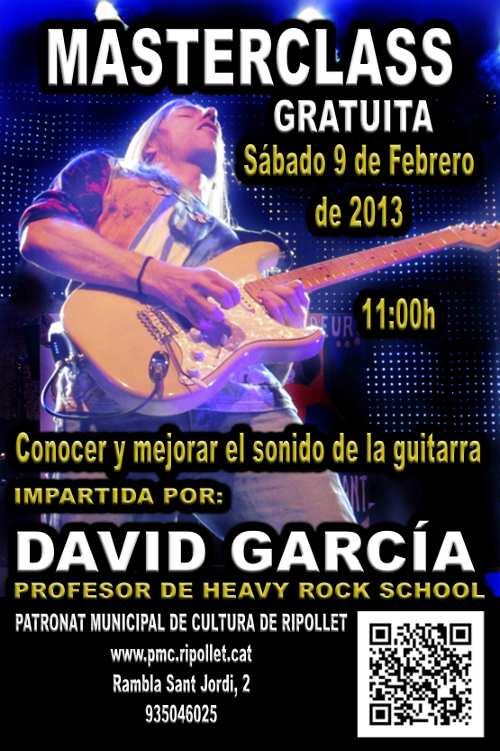 Cartel MasterClass David García