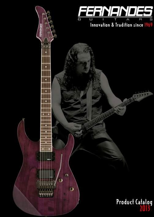 Catálogo de guitarras Fernandes 2013