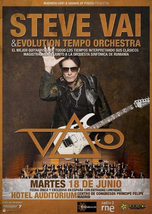 Concierto de Steve Vai & Evolution Tempo Orchestra en Madrid