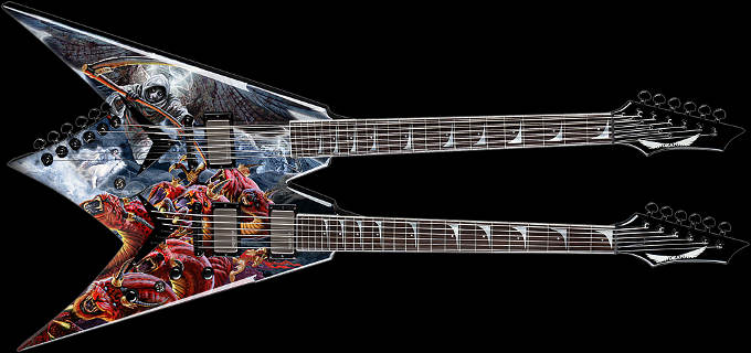 Dean Dave Mustaine Signature 2013 VMNT DOuble Neck