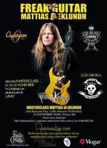 Masterclass y concierto de Mattias IA Eklundh en Madrid