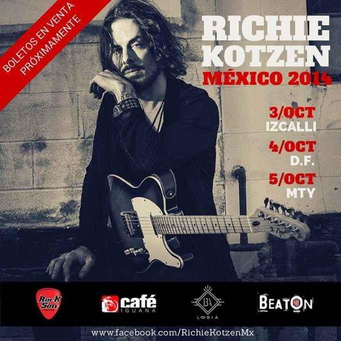 Conciertos de Richie Kotzen en México (octubre 2014)