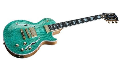 Gibson Les Paul Supreme Solid-Body Electric Guitar Seafoam Green Front and Faded Back