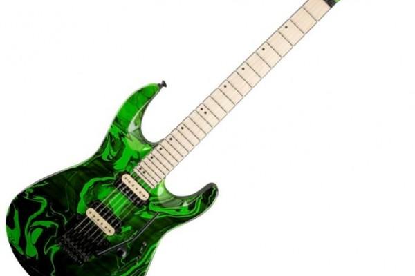 Jackson Pro DK2M Slime Green Swirl