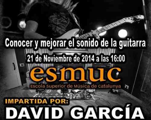 Cartel Masterclass ESMUC 2014 - David Garcia