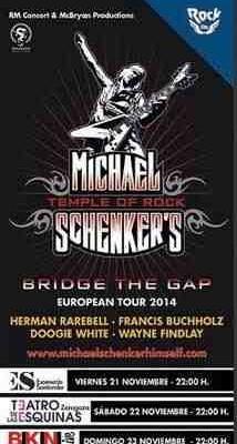 Conciertos de Michael Schenker en España (2014)