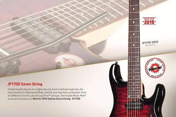 Sterling By Music Man John Petrucci JP170D de 7 cuerdas