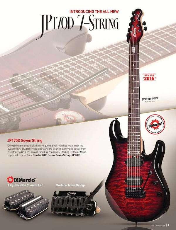Sterling By Music Man John Petrucci JP170D de 7 cuerdas