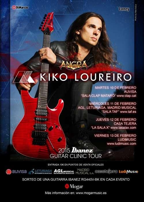 Clinics de Kiko Loureiro e Ibanez en España