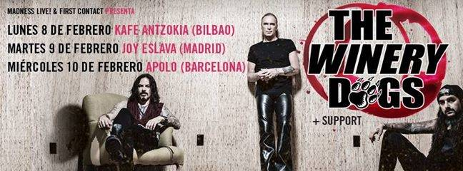 The Winery Dogs: conciertos en España 2016