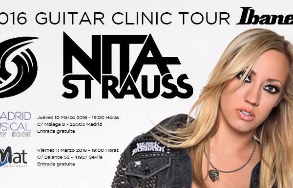 Clinics de Nita Strauss en Madrid y Sevilla