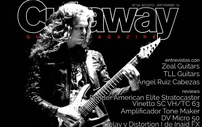 Cutaway Guitar Magazine #54: Chris Broderick, Fender Stratocaster, DV Micro...