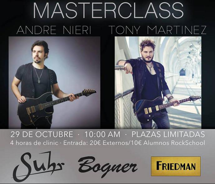 MasterClass Tony Martinez Andre Nieri