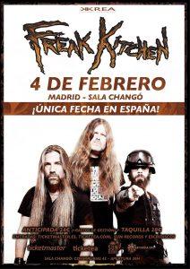 Único concierto en España de Freak Kitchen